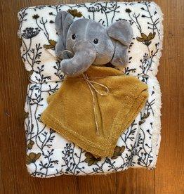 Wink Baby blanket w/ Elephant Lovey