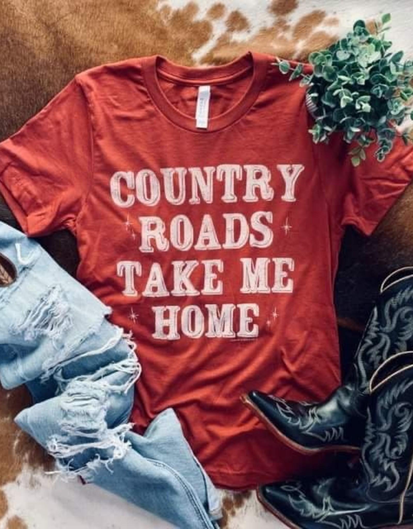 Wink Country Roads Take Me Home Tee