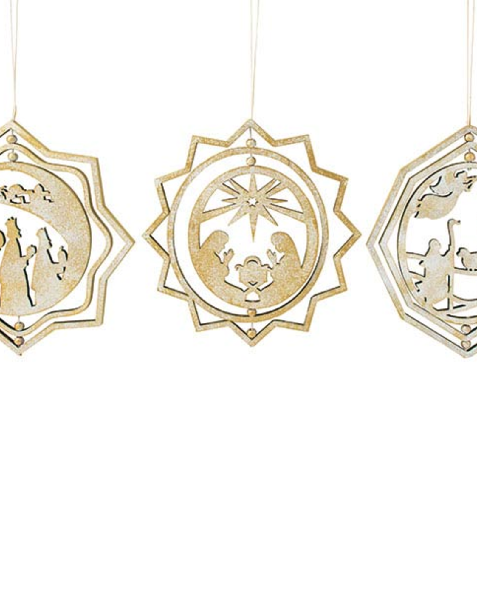 Wink Laser Cut Spinner Ornament