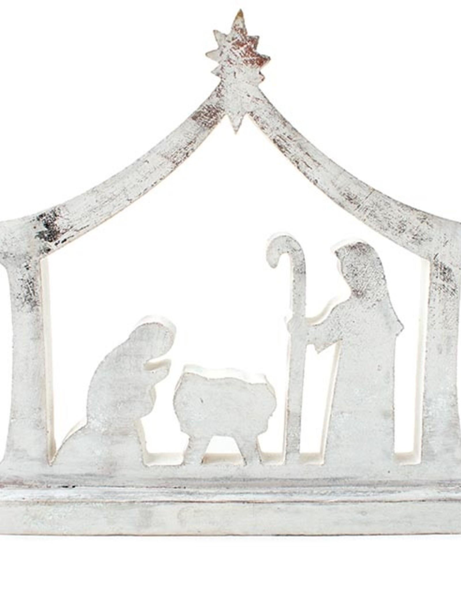 Wink Wood Nativity - Whitewashed