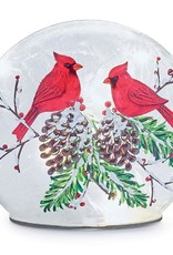 Wink Cardinals Gather Lighted Dome Glass Table Accent