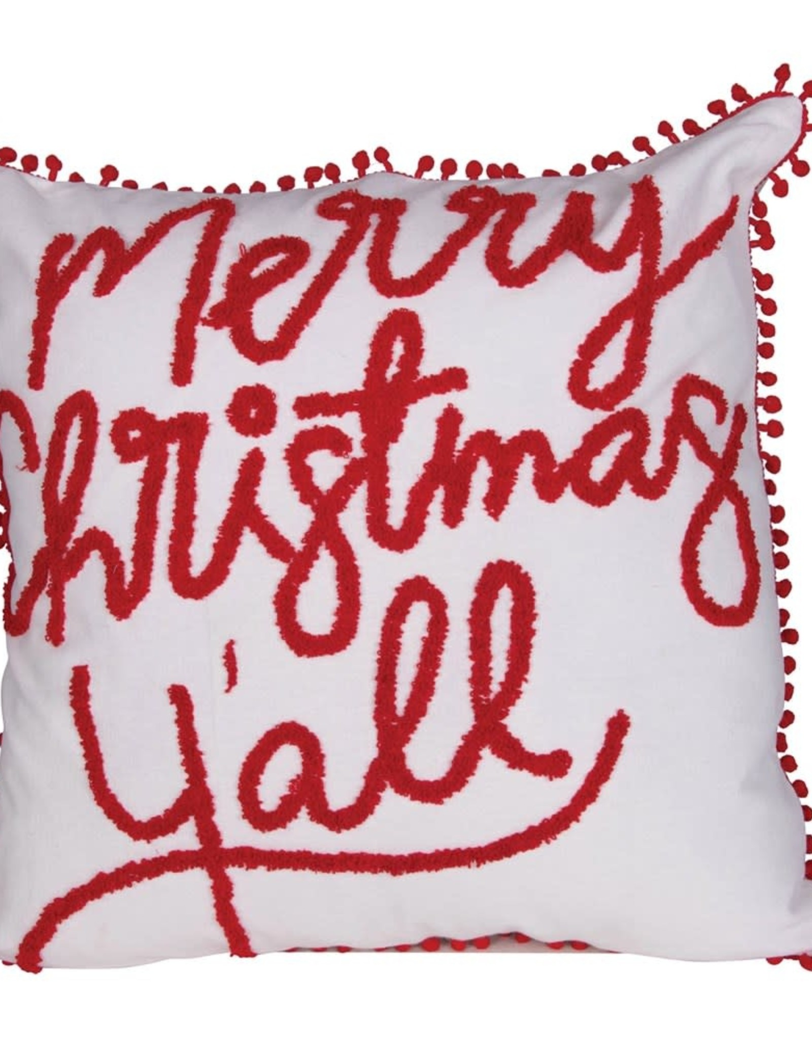 Wink Merry Christmas Y'All Pillow
