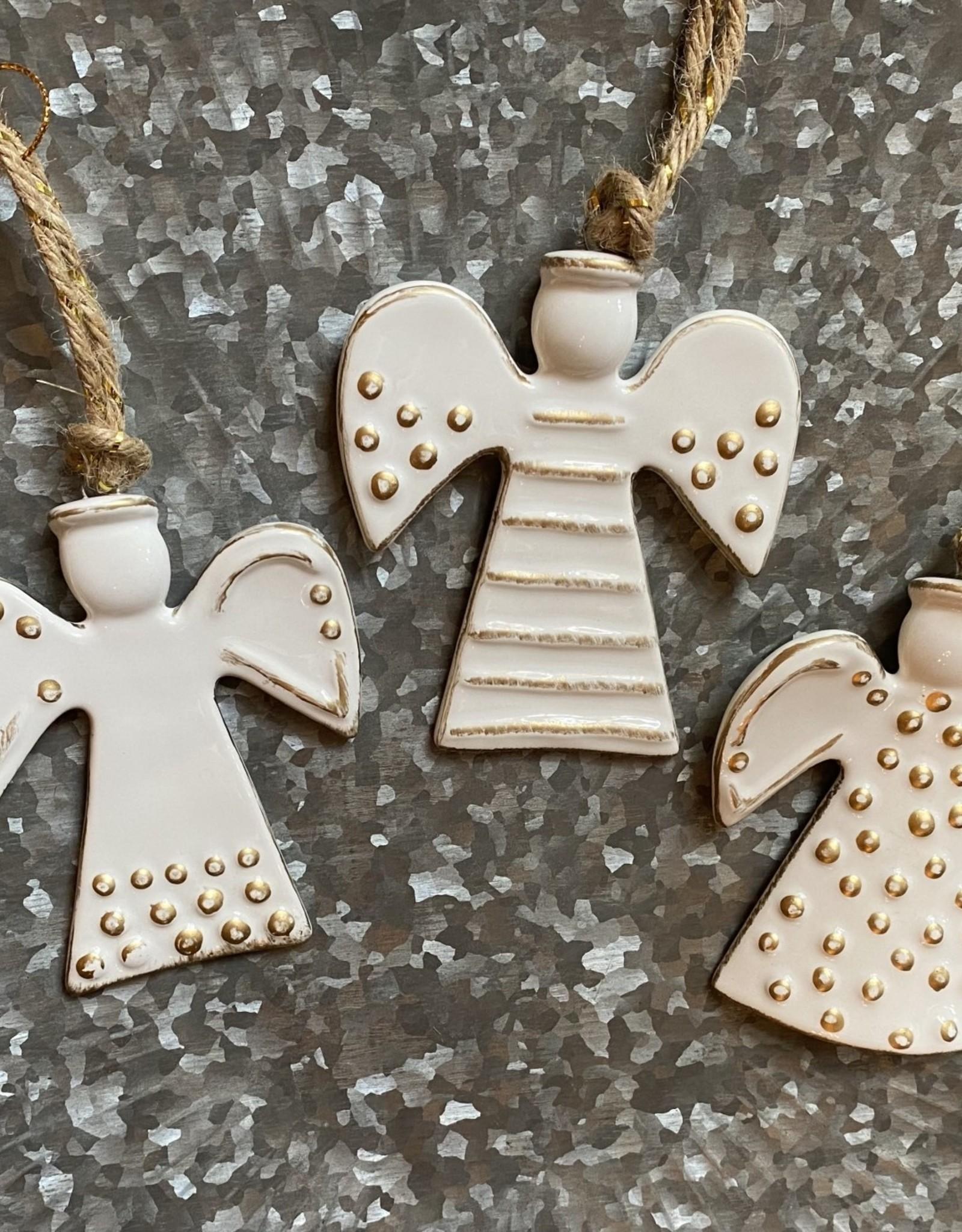 Wink Assorted Handpainted Ceramic Angel Ornament