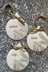 Wink Ceramic Pine Ornament