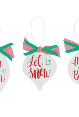 Wink Whimsical Message Ornament