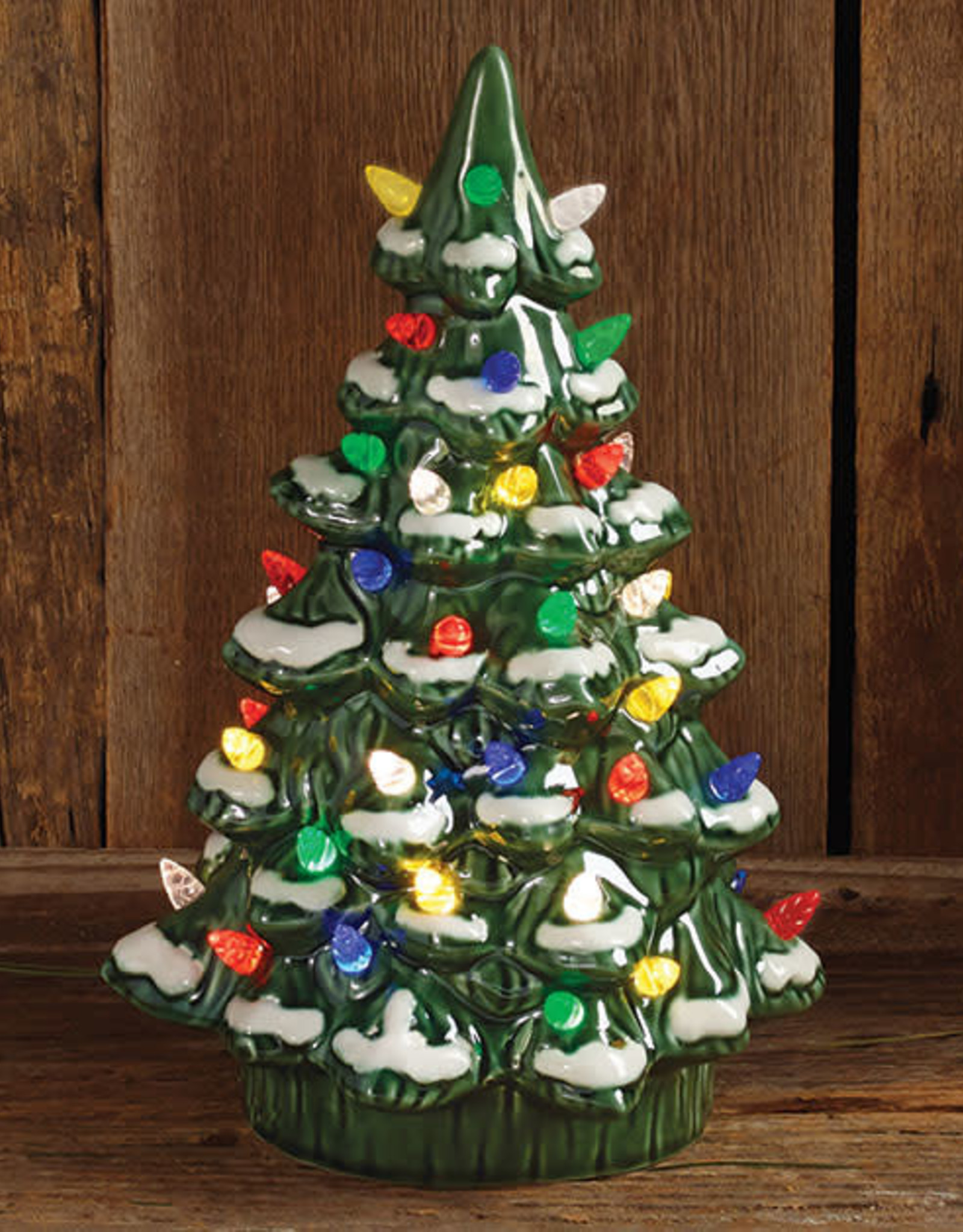 Wink Lighted Porcelain Frosted Christmas Tree