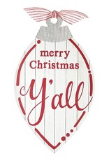 Wink Merry Christmas Y'all Wall Hanging