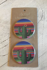 Wink Car Coaster Serape Cactus
