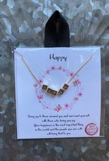 Wink Choker Necklace - Happy Gold