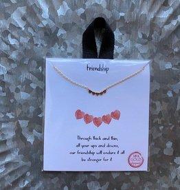 Wink Choker Necklace - Friendship Gold
