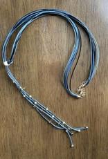 Wink Black Multi-Strand Necklace