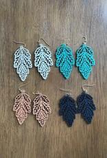 Wink Leaf Cut Out Earrings