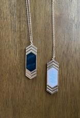 Wink Double Arrow Drop Necklace