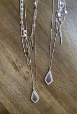 Wink Multi Chain Diamond Shaped Necklace