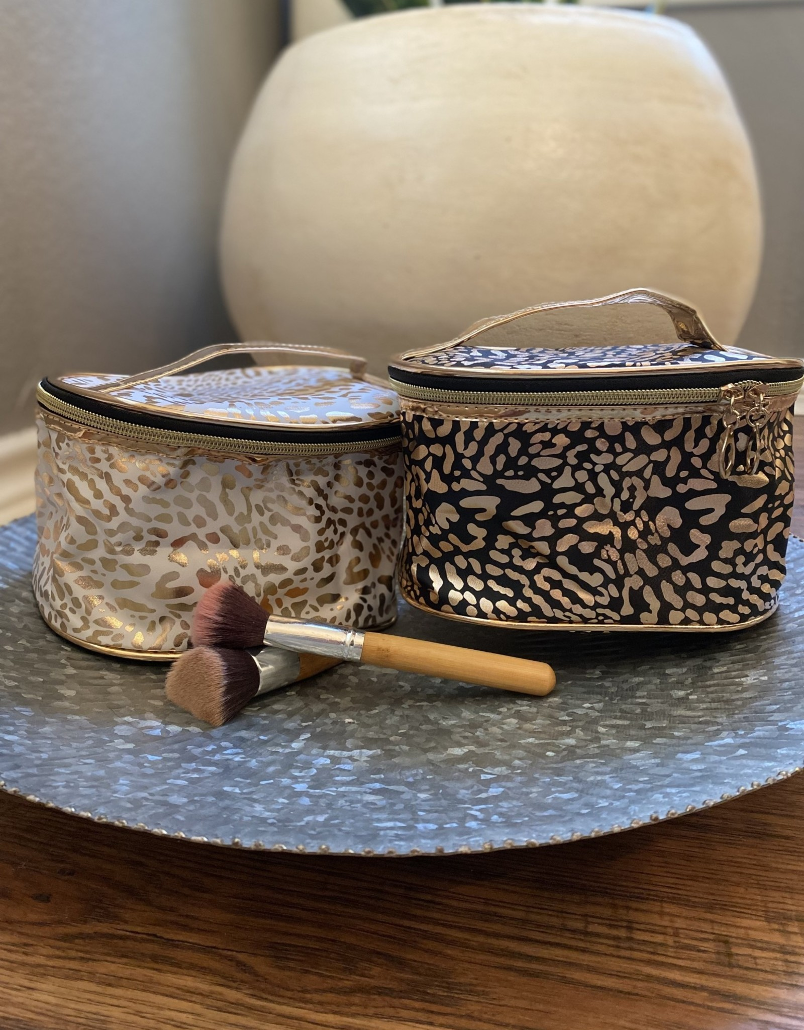 Wink Leopard Print Makeup Bag