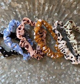 Wink Hair Scrunchies-Heart Pattern