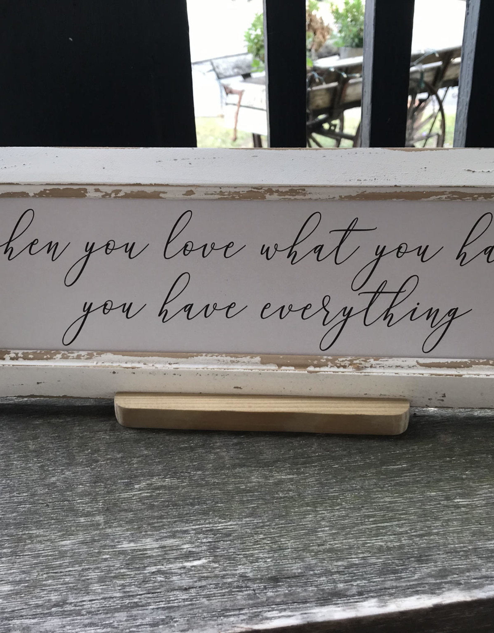 Wink White Wash Table Top Frame