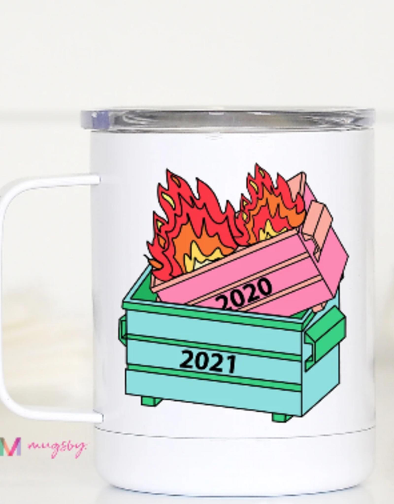 Wink Dumpster Fire Travel Mug