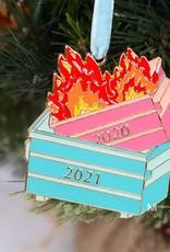 Wink 2021 Dumpster Fire Ornament