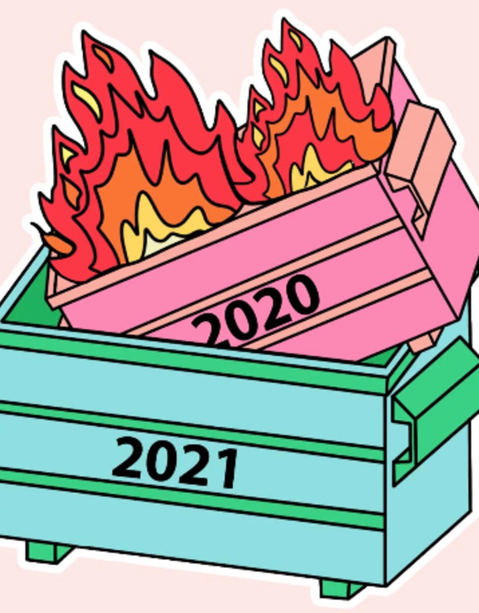 Wink Dumpster Fire Sticker