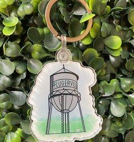 Pflugerville Water Tower Keychain