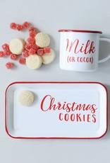 Wink Enameled Christmas Cookie Tray w/Mug