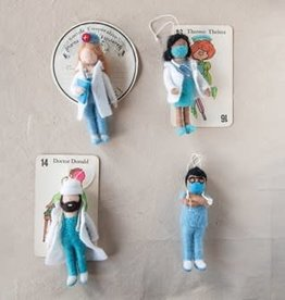 Wink Wool & Felt Medical Ornament-Sold Individually