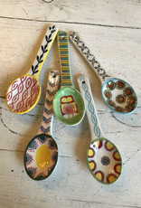 Wink Stoneware Spoon w/Painted Patte