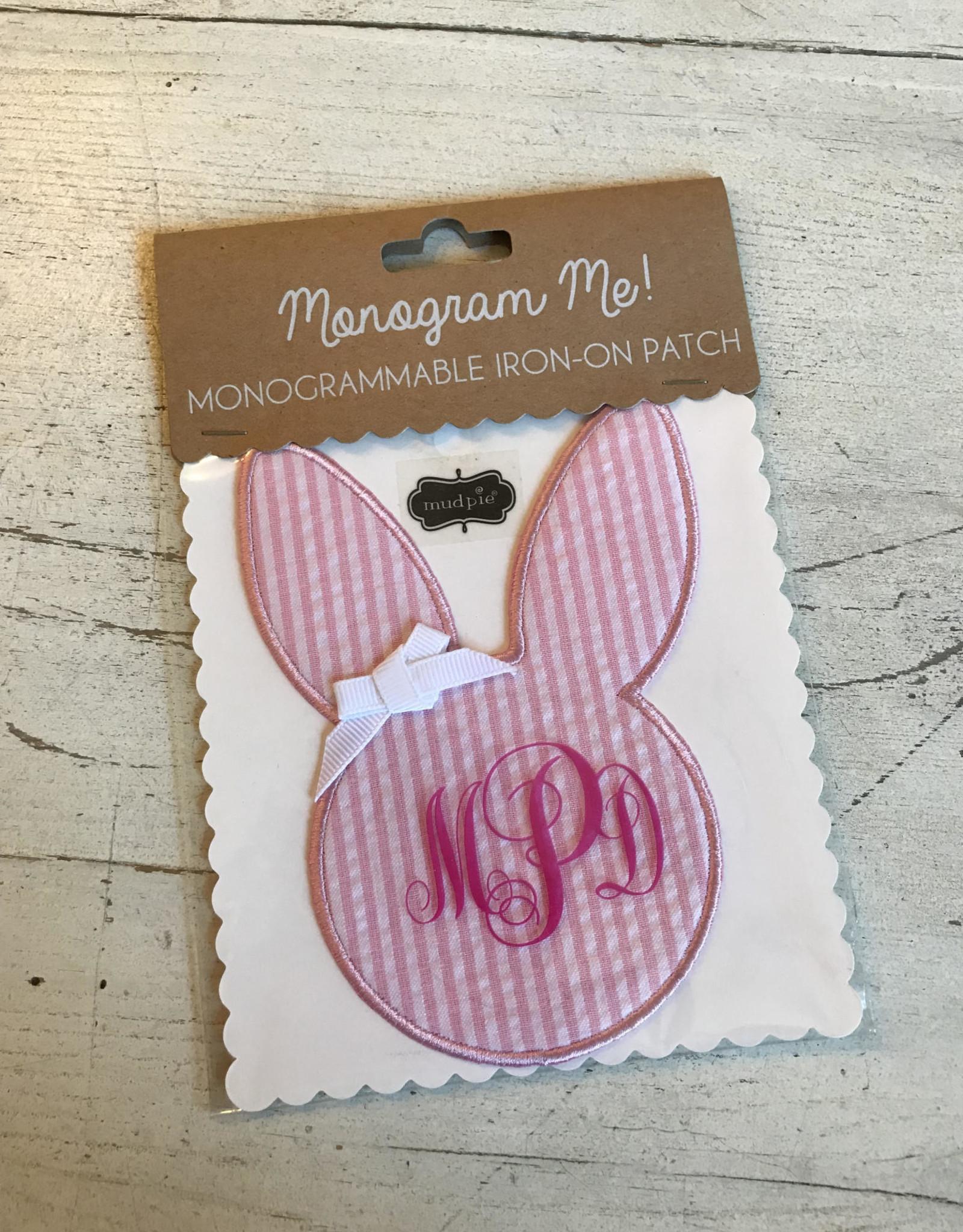 Wink Pink Seersucker Bunny Patch