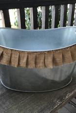 Mud Pie Burlap Trim Party Tub