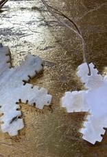 Wink Alabaster Snowflake Ornaments