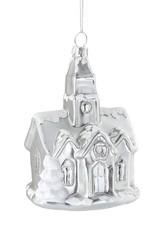 Wink Silver Church w/Snowy Roof Ornament