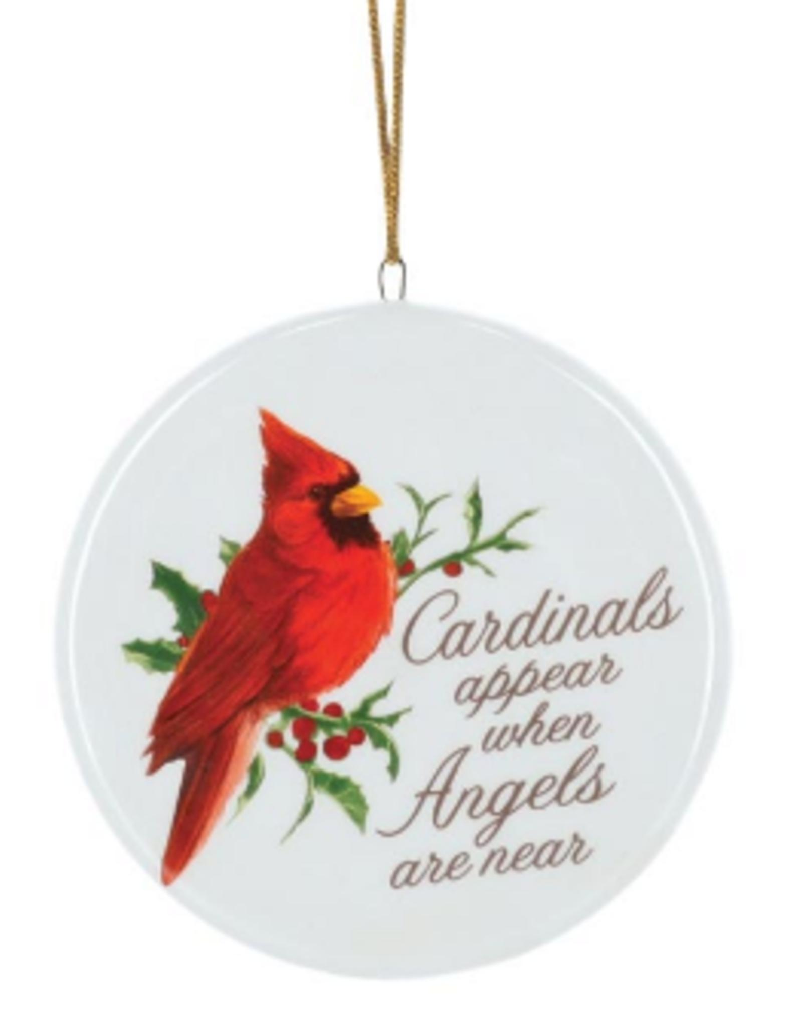 Wink Cardinals & Angels Ceramic Ornament