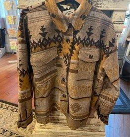 Wink Aztec Jacket Mustard/Tan