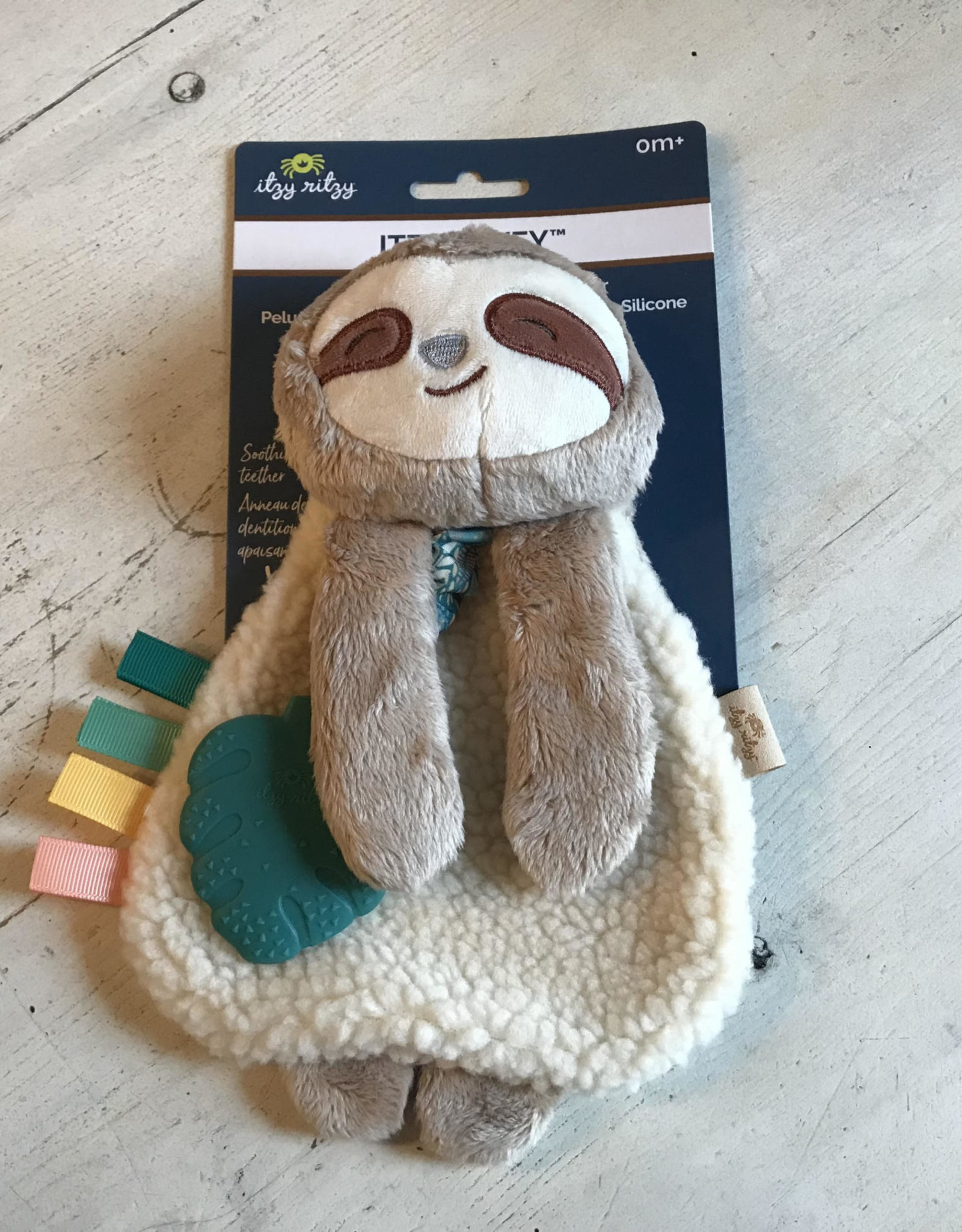 Wink Peyton the Sloth Lovey with Teether