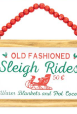 Wink Sleigh Rides Beaded Hanger