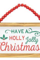 Wink Holly Jolly Beaded Hanger