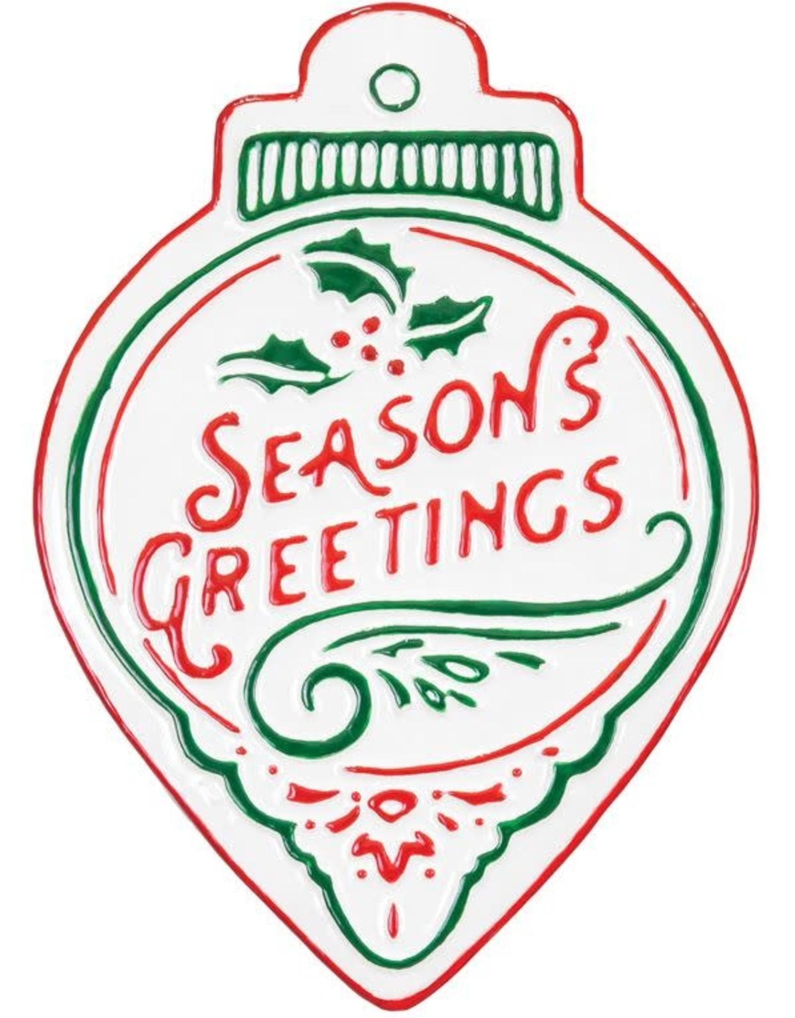 Wink Seasons Greetings Metal Ornament Wall Hanger