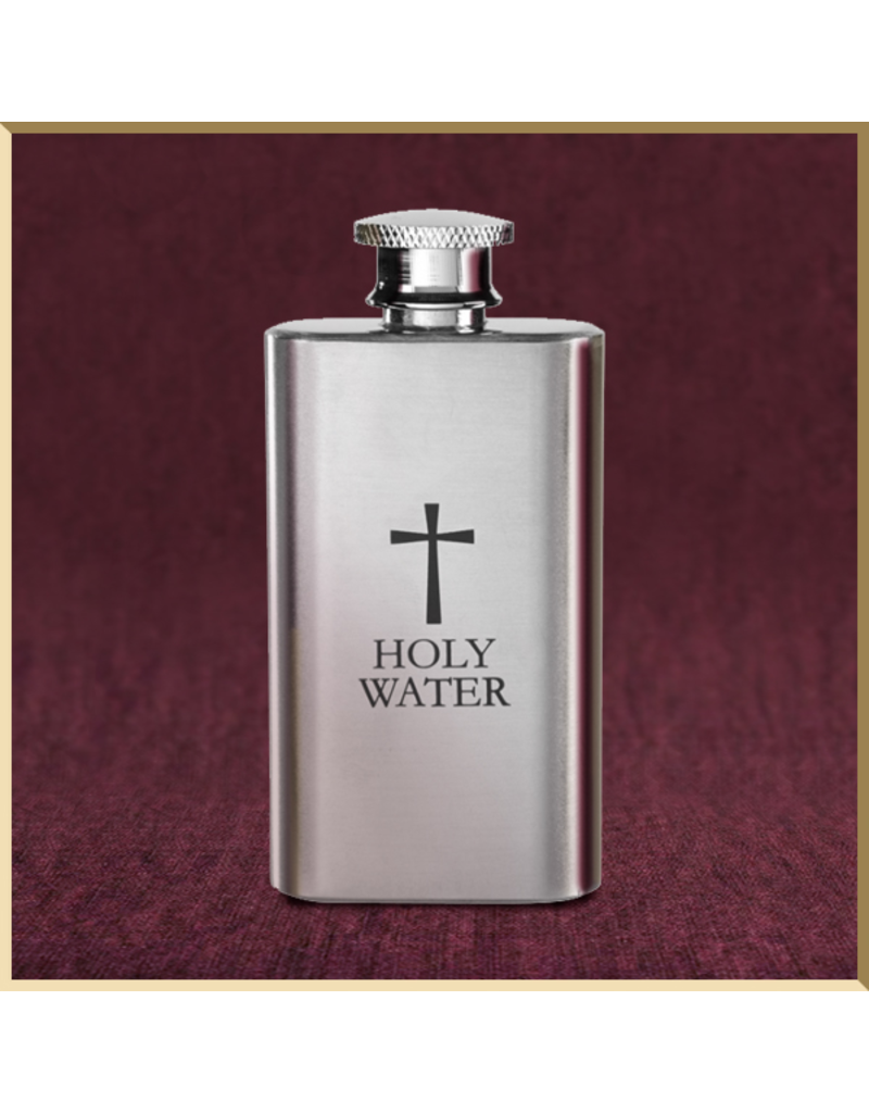 2oz Stainless Steel Holy Water Bottle
