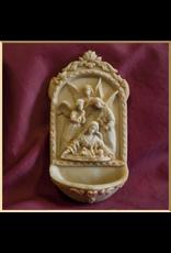 Angels at Manger Holy Water Font