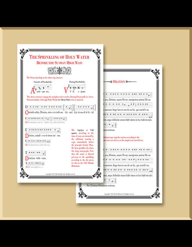 Asperges/Vidi Aquam Card with Musical Notation