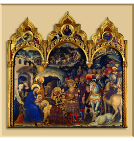 Christmas Card Triptych - Adoration of the Christ Child