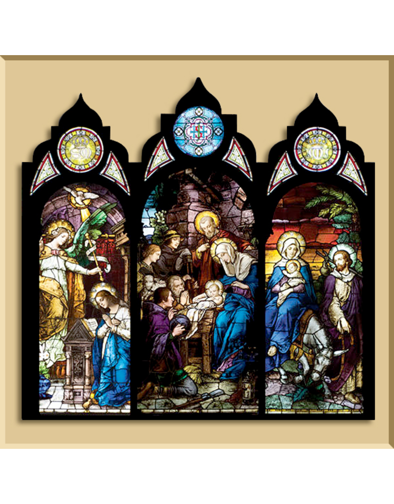 Christmas Card Triptych - Stained Glass