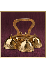 Embossed Sanctus Bells with Wood Handle