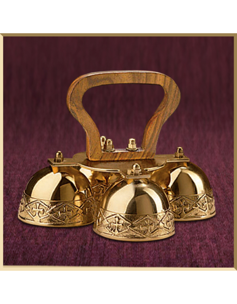 Embossed Sanctus Bells with Wood Handle