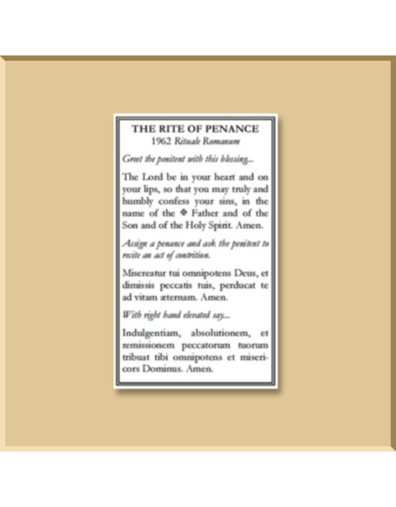 Rite of Confession (Handy Business Card Size)