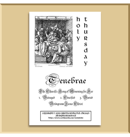 Tenebrae Service Booklet: Holy Thursday