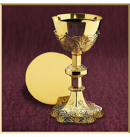 Sudbury Brass Vine Embossed Chalice and Paten
