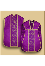 Damask Roman Low Mass with Swirl Embroidery - All Liturgical Colors
