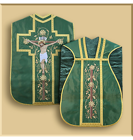 Roman Low Mass Set with Crucifixion Embroidery - Various Colors